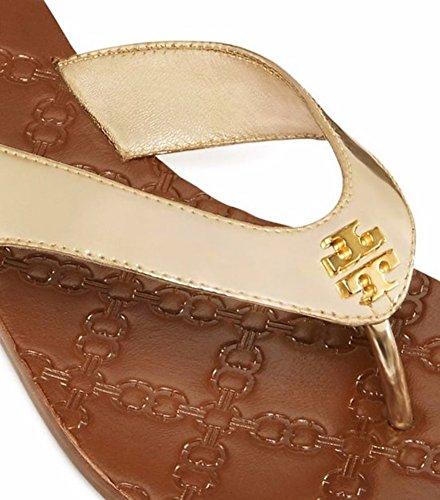 Monroe Gold Metallic Thong Spark Sandal Burch Tory FqaSzn1F