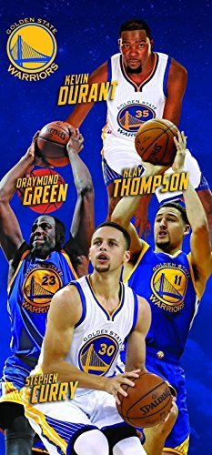 NBA Golden State Warriors Players Durant Thompson Curry Green Beach Towel Blanket 30 in x 60 in (State Pool Golden Warriors)