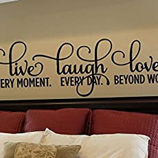 Inspirational Quotes Wall Decals, Live Laugh Love Removable Wall Decal For.