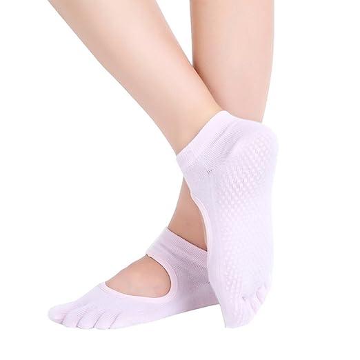 Ssowun Fletion calcetines dedos yoga,calcetines dedos mujer ...