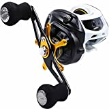 Sougayilang Baitcasting Fishing Reel -7oz Super Light Weight, 18 Lb Drag System, 9 + 1 BB, 6-Way Centrifugal Braking System, Double Anodized Aluminum Spool Casting Reel for Bass Fishing
