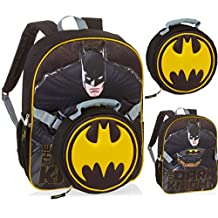 DC Comics Batman Dark Knight Backpack with Detachable Lunch Bag - Kids