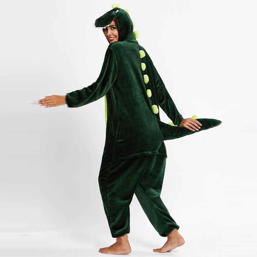 HARRYSTORE Pijama Buho De Franela De Invierno Para La Práctica Ropa de Dormir Unisex (Verde Dinosaurio, Talla XL(Height 178-185cm)): Amazon.es: Deportes y ...