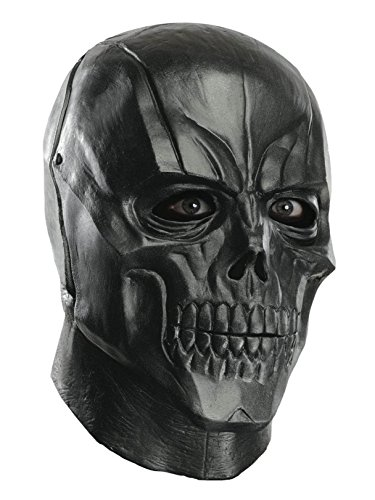 Rubie's Men's Arkham City Adult Deluxe Overhead Latex Black Mask, Multi, One Size -