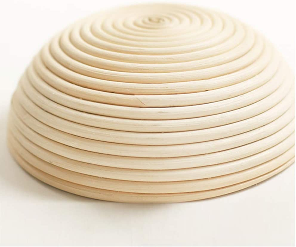 AllRight G/ärk/örbchen Brotteig G/ärk/örbe Korb Brotform Peddigrohr rund 0,7 kg