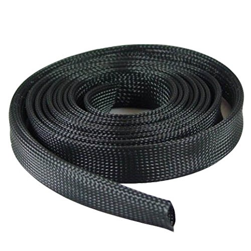 """InstallerParts 100Ft Expandable Braided Cable Sock -- Black -- 1/2"""" Diameter"""