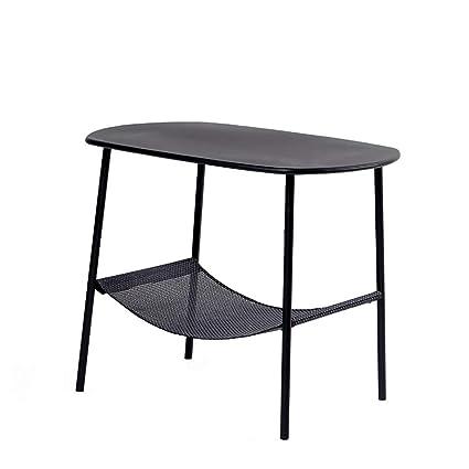 Amazon Com Four Legged Wrought Iron Coffee Table Black Home Living