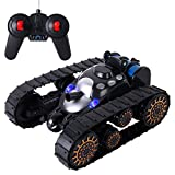 SGILE RC Tank Toy Stunt Car Toy for Kids Birthday Gift Present with 360 Flip/ LED Lights/Music/Anti-Shock Continuous Track