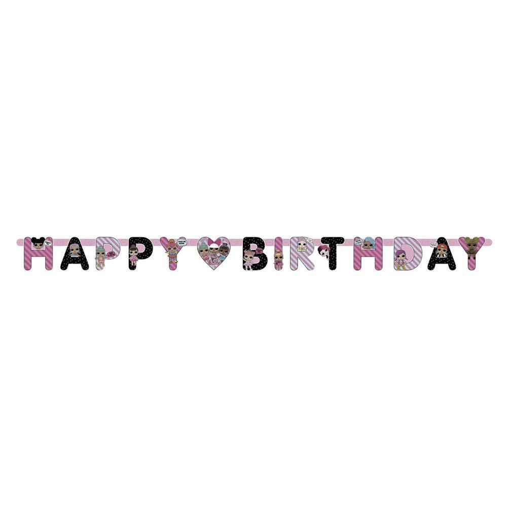 LOL Surprise Black /& Pink Birthday Banner Unique 79099