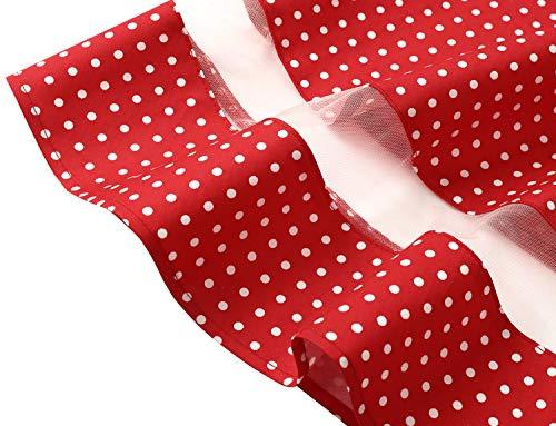 Dot Maniche Small Audery Red Gardenwed Cocktail 1950 White Con Partito Corte Vestito Abito Rockabilly Retrò Polka Swing Da Annata qOwafU