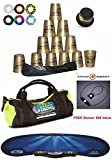 Speed Stacks Custom Combo Set - The Works: 12 GOLD Cups, Cup Keeper, Carry Bag, Pro Timer, Gen3 Mat, 6 Snap Tops & Gear Bag + FREE Bonus: Active Energy Power Balance Necklace $49 Free