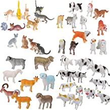 MagiDeal 44Pcs Plastic Cat Dog Sheep Cattle Farm Yard Animals Model Figure Kids Toys