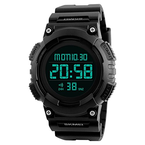 MODIWEN Digital Sports Waterproof Watch with Dual Time Multifunction Military Army Chronograph Watches