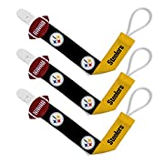 Pacifier Clip (3 Pack) - Pittsburgh Steelers