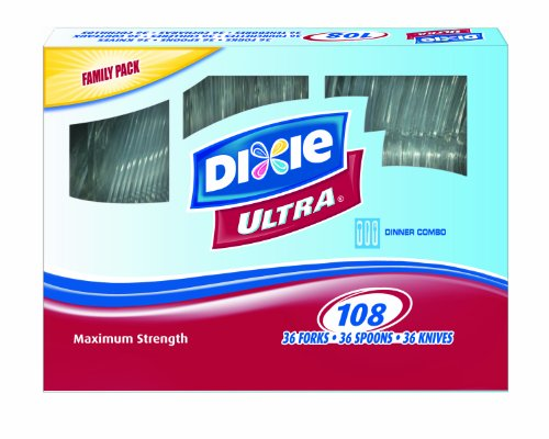 Georgia Pacific Dixie Cutlery (Dixie Ultrastrong Cutlery Value Pack Combo, 108-Count (Pack of 2))