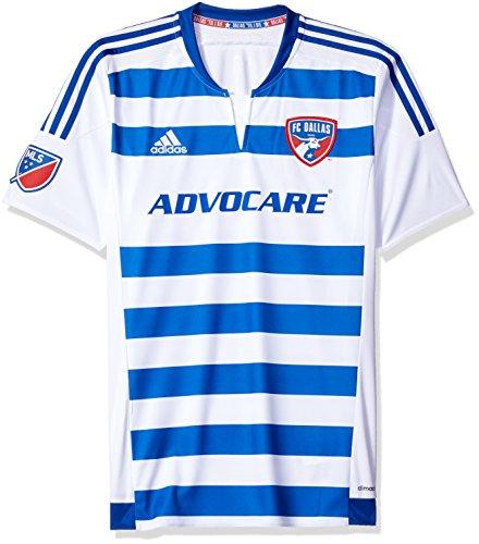 (MLS FC Dallas Men's Replica Short Sleeve Jersey, Large, White)