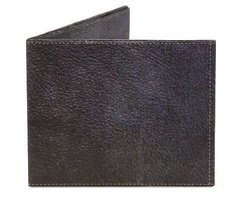 Mighty Wallet Men's Ultra Thin Strong Tyvek Wallet by Dynomighty - Black Leather