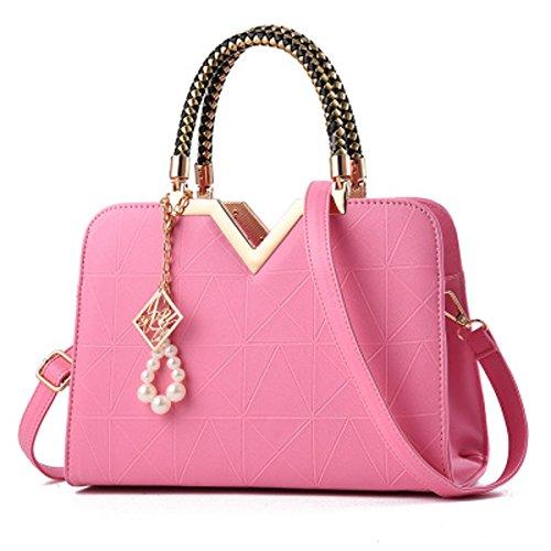 rosa 13cm × hombro mujer al Bolso xiaohu portable 28 × × 5cm 12cm para roja Rosa 20cm xXO6SCq
