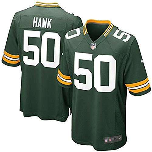 Nike AJ Hawk Green Bay Packers NFL Youth Green Home On-Field Jersey (Youth Large ()