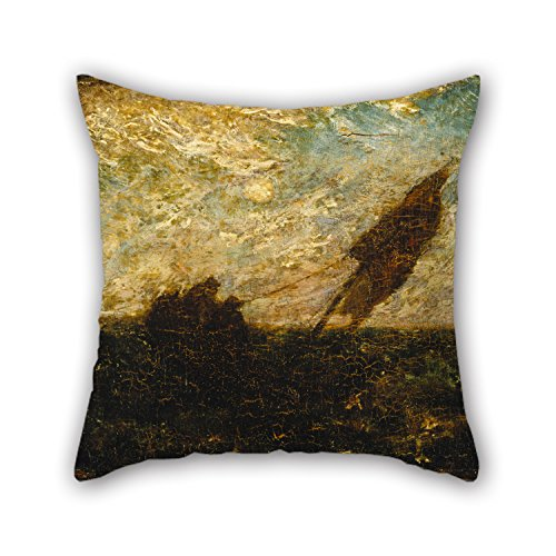 16 X 16 Inches / 40 By 40 Cm Oil Painting Albert Pinkham Ryder - The Waste Of Waters Is Their Field Throw Cushion Covers,each Side Is Fit For Kitchen,living (Painting A Monkey Face For Halloween)