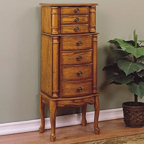 powell-woodland-oak-jewelry-armoire
