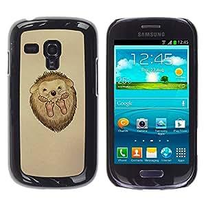 TopCaseStore / la caja del caucho duro de la cubierta de protección de la piel - Cute Hedgehog Baby - Samsung Galaxy S3 MINI NOT REGULAR! I8190 I8190N