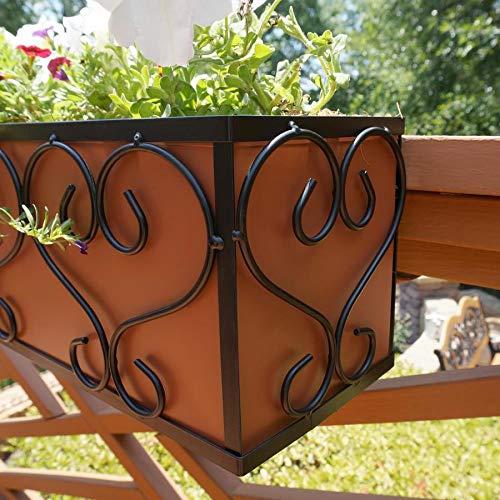 Planter Box Garden Treasures Black & Copper Metal Traditional Liner (28