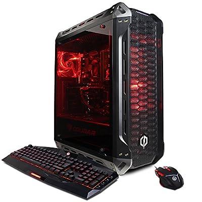CYBERPOWERPC Gamer Xtreme GXi10980CPG Desktop (Intel i7-8700K 3.7GHz, 8GB DDR4, NVIDIA GeForce GTX 1050 Ti 4GB, 2TB HDD, WiFi & Win10 Home) Black