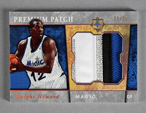 - 2006-07 UD Ultimate Collection Dwight Howard Game-Used Magic Jersey Card Premium Patch 25/50
