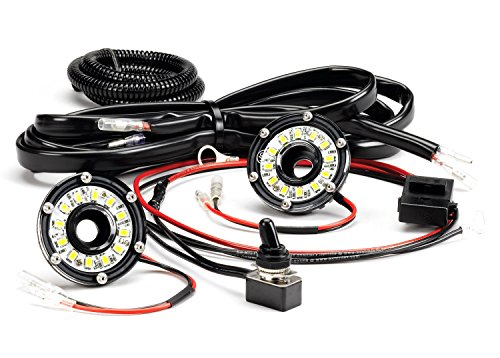 - KC HiLiTES 355 Cyclone LED Universal 2-Light Under Hood Wiring Kit
