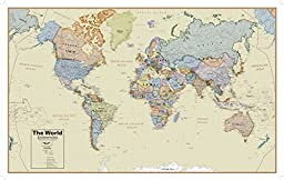 Round World Products Boardroom World Wall Map