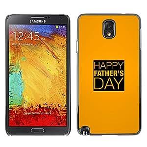 TopCaseStore / la caja del caucho duro de la cubierta de protección de la piel - Day Gold Yellow Text Holiday - Samsung Galaxy Note 3 N9000 N9002 N9005