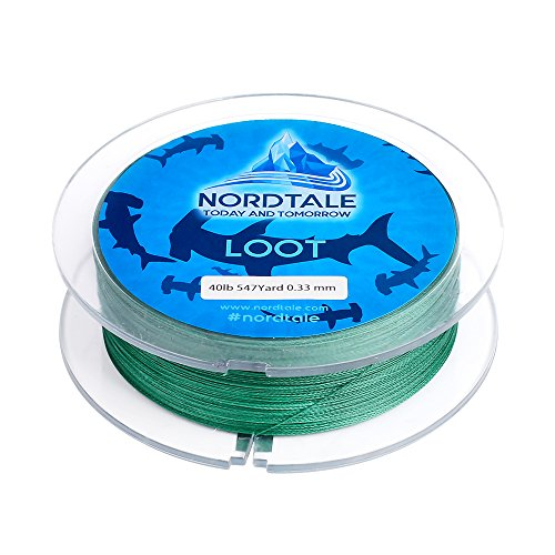 Braided Fishing Line 300yards 547yards - Improved Braided Fishing Lines - Abrasion Resistance - Zero Stretch - Thinner Diameter 6lb-50lb - By Nordtale