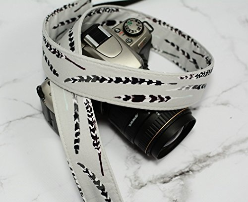 Grey and Plum Feathers - SLR / dSLR Camera Strap - Nikon / Canon / Sony / Olympus / Samsung / Pentax
