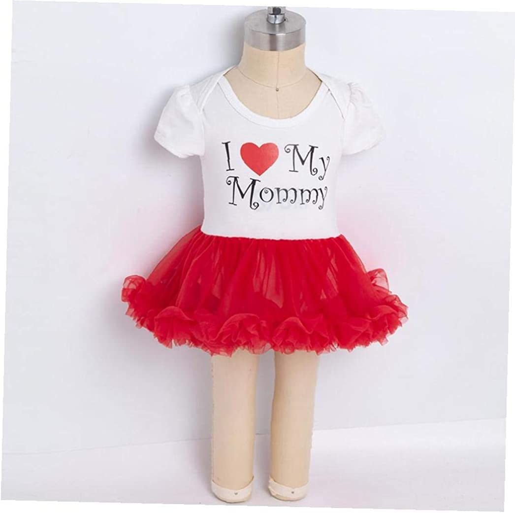 2pcs Baby Short Sleeve Romper Tutu Lace Dress Headband Set Pattern Happy Birthday Bodysuit Jumpsuits Baby Onesies for 12-24 Months
