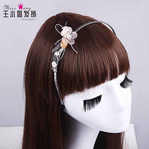 usongs sweet pearl bridal headdress hair bands retro flower hair ornaments handmade ceramic flower headband girl
