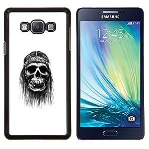 Jordan Colourful Shop - Hippy Skull For Samsung Galaxy A7 Personalizado negro cubierta de la caja de pl????stico