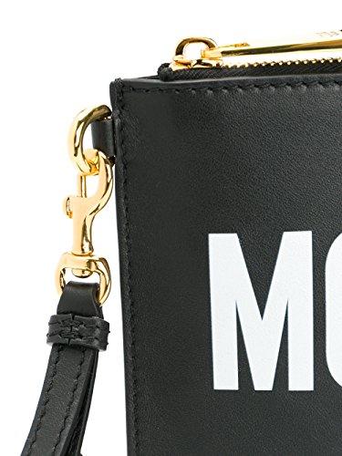 Noir Pochette MOSCHINO A841580011555 Femme Cuir qWWF0E7