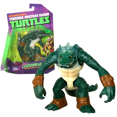 Playmates Year 2013 Nickelodeon Teenage Mutant Ninja Turtles 4 Inch Tall Action Figure - Giant Mutant Sewer Alligator LEATHERHEAD with Removable Tail