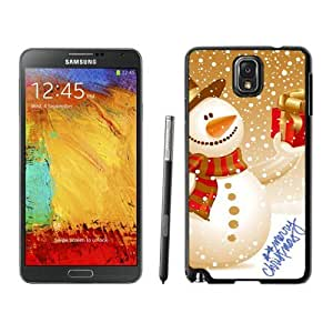 2014 Newest Christmas Snowman Black Samsung Galaxy Note 3 Case 20