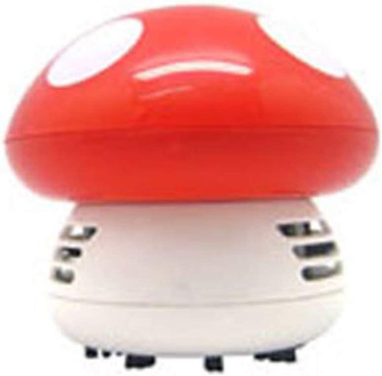 Rimozione della Polvere dei Funghi dei Cartoni Animati Arancia Aspirapolvere per La Pulizia del Desktop di Casa Dellufficio Dellefuture Mini Aspirapolvere da Tavolo