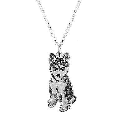 JF Imagen Personalizada de Mascotas/Gatos/Perros Collar Personalizado de Fotos con Fotos Colgante Plateado de Mascotas Double Dided para ...