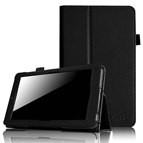 Fintie Folio Case for ASUS MeMO Pad HD 7-inch ME173X Tablet Slim Fit Support Sleep / Wake Function with Stylus Holder - Black