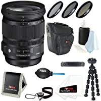 Sigma 24-105mm F/4 DG OS HSM Lens for Canon DSLR Cameras with 82mm 3-piece Filter Set + Lens Accessory Kit