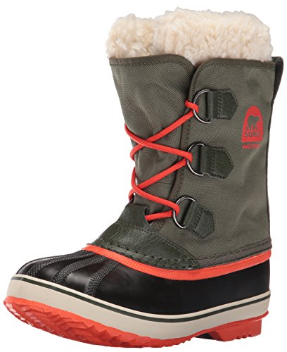 Sorel Yoot Pac Nylon-K Snow Boot, Green, 6 M US Big Kid (Kids Boots Sale compare prices)