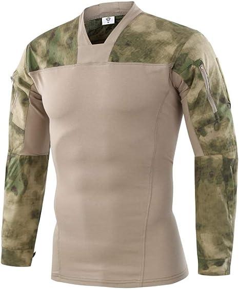 Specter Hombres Táctico Camiseta Militar Airsoft Camuflaje Combate Algodón Camisa Delgado Largo Manga Secado Rápido(M-2XL): Amazon.es: Deportes y aire libre