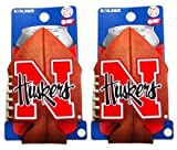 (2) NEBRASKA CORNHUSKERS FOOTBALL CAN COOLIE KOOZIES For Sale