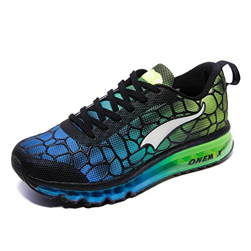 Zapatillas Deportes Running Mujer Green SkyBlue Onemix Atlético de Air Respirable Adulto Hombre Unisex Zxq08xpw