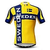 weimo Men's USA Cycling Jersey Short Sleeve Quick-Dry Biking Shirt
