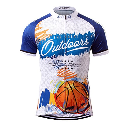 Thriller Rider Sports Mens The Great Outdoors Outdoor Sports Mountain Bike  Short Sleeve Cycling Jersey Large 59bea897e